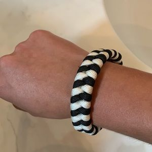 Jewelry - Black and White Paracord Bracelet